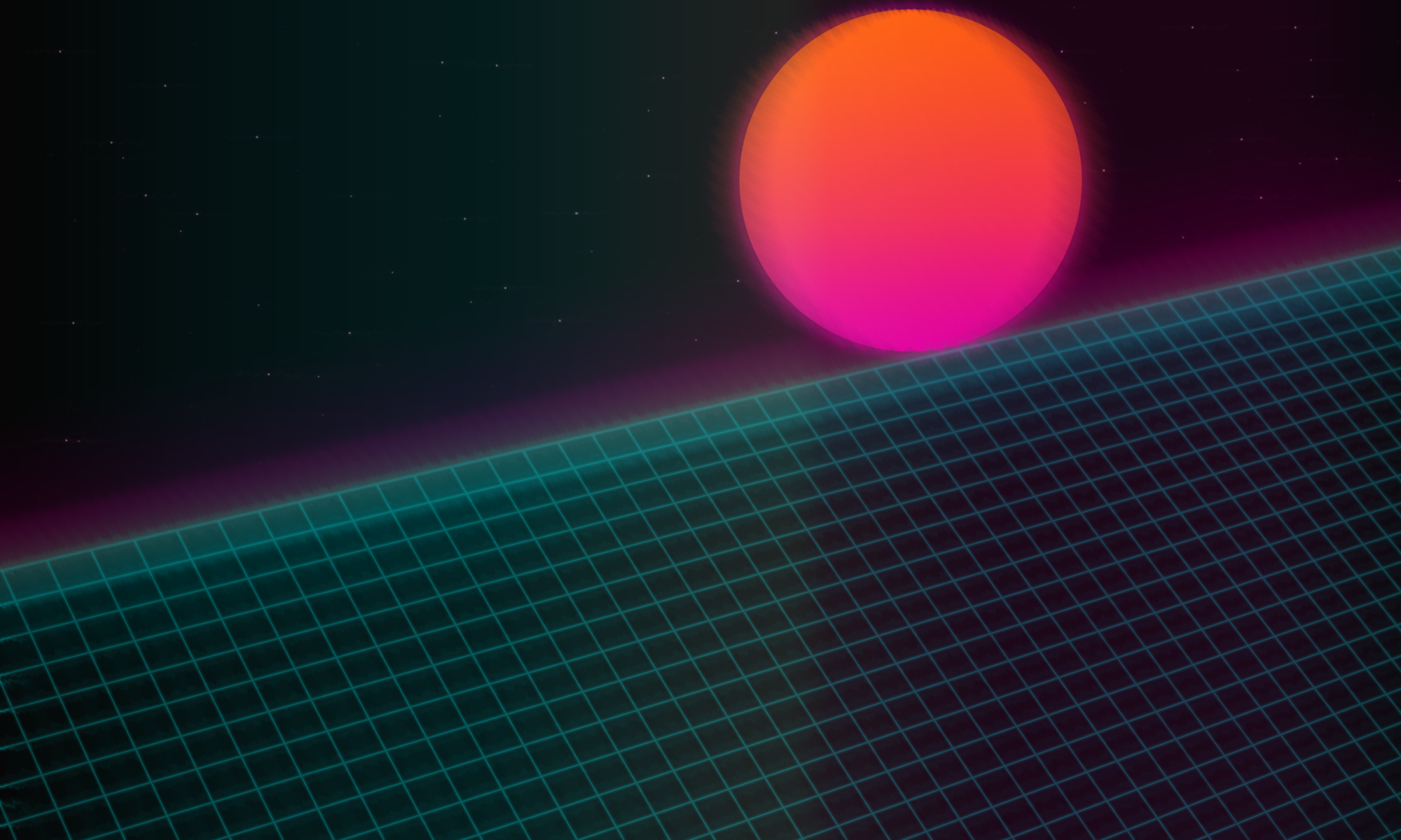Retrowave: 80's Synthwave Style RetroPie Video Splashscreen